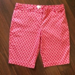 Laundry Pink and White Bermuda shorts
